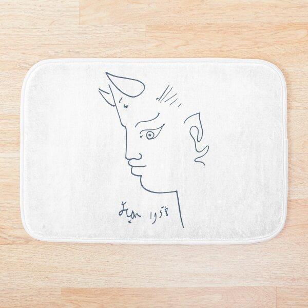 Jean Cocteau Tete de Faune (Head of Fauna), Artwork, Posters, Prints, Tshirts, Men, Women, Kids Bath Mat