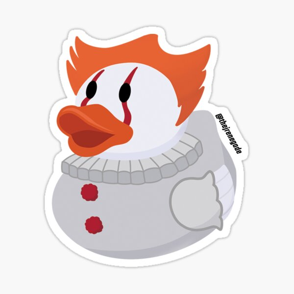 The Clown Duck Sticker