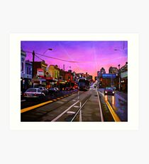 Bridge Road Sunset-Melbourne Art Print
