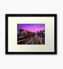 Bridge Road Sunset-Melbourne Framed Print