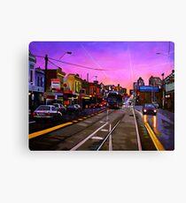 Bridge Road Sunset-Melbourne Canvas Print