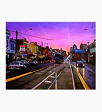 Bridge Road Sunset-Melbourne Photographic Print