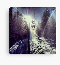 Chairlift to heaven Metal Print
