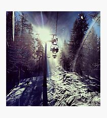 Chairlift to heaven Photographic Print