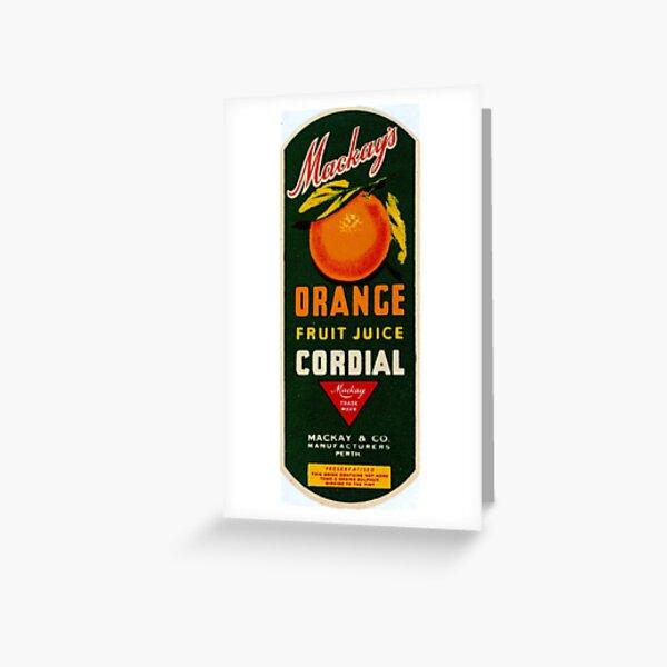 Mackay's Orange Fruit Juice Cordial State Library of Western Australia Greeting Card