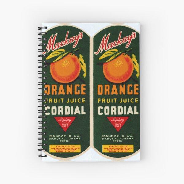 Mackay's Orange Fruit Juice Cordial State Library of Western Australia Spiral Notebook
