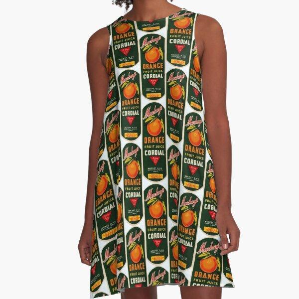 Mackay's Orange Fruit Juice Cordial State Library of Western Australia A-Line Dress