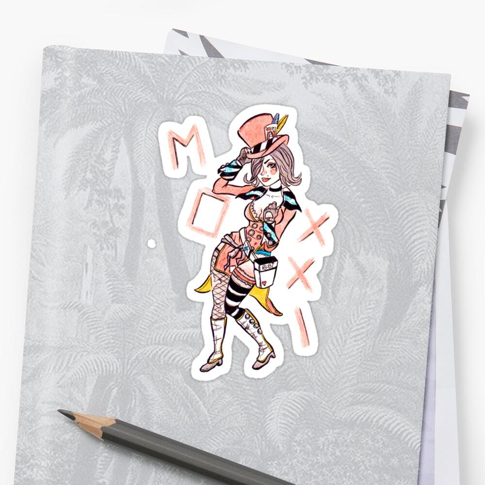 Borderlands Moxxi Sketch Sticker