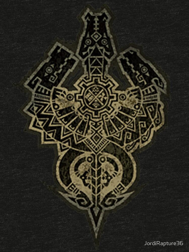 Monster Hunter Tri Symbol Tri Blend T Shirt By Jordirapture36