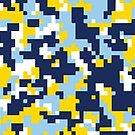 Blue & Yellow Camo Design by canossagraphics
