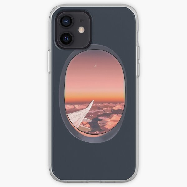 Plane window in the night iPhone Soft Case