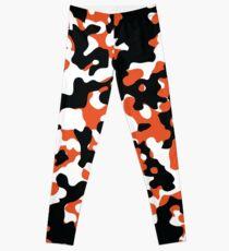 Orange & Black Camo Design #2 Leggings