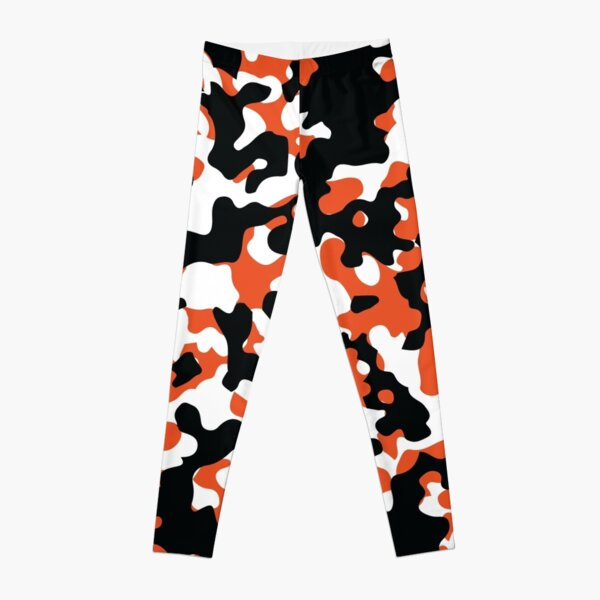 Orange & Black Camo Design #2 Leggings