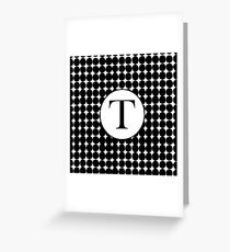T Bubble Greeting Card