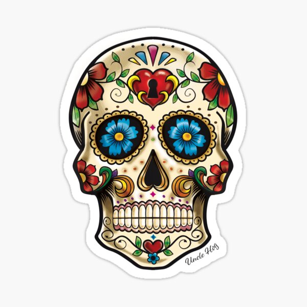 candy skull Tattoo style image Sticker