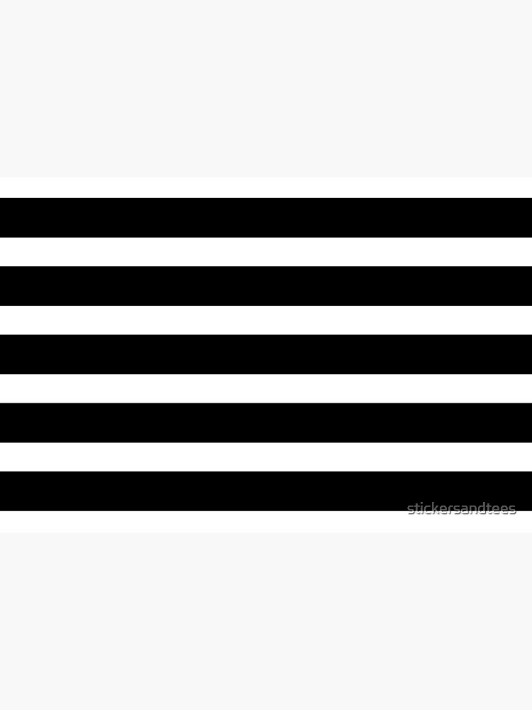 Thick Black and White Striped Bath Mat by stickersandtees