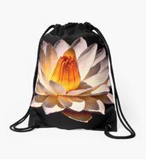 Yellow Glow Fragrant Water Lily Drawstring Bag
