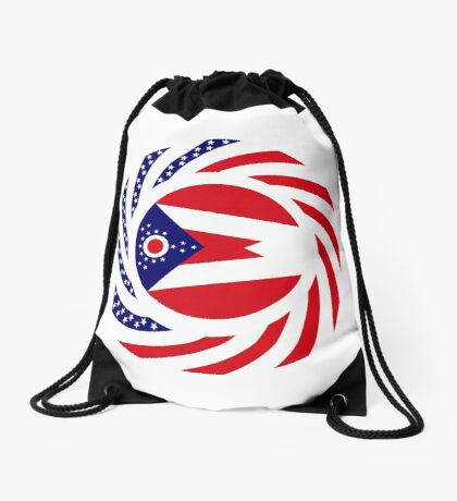 Ohio Murican Patriot Flag Series Drawstring Bag