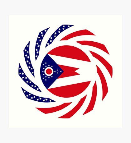 Ohio Murican Patriot Flag Series Art Print