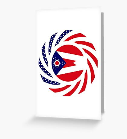 Ohio Murican Patriot Flag Series Greeting Card