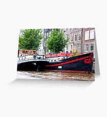Amsterdam Houseboats Greeting Card