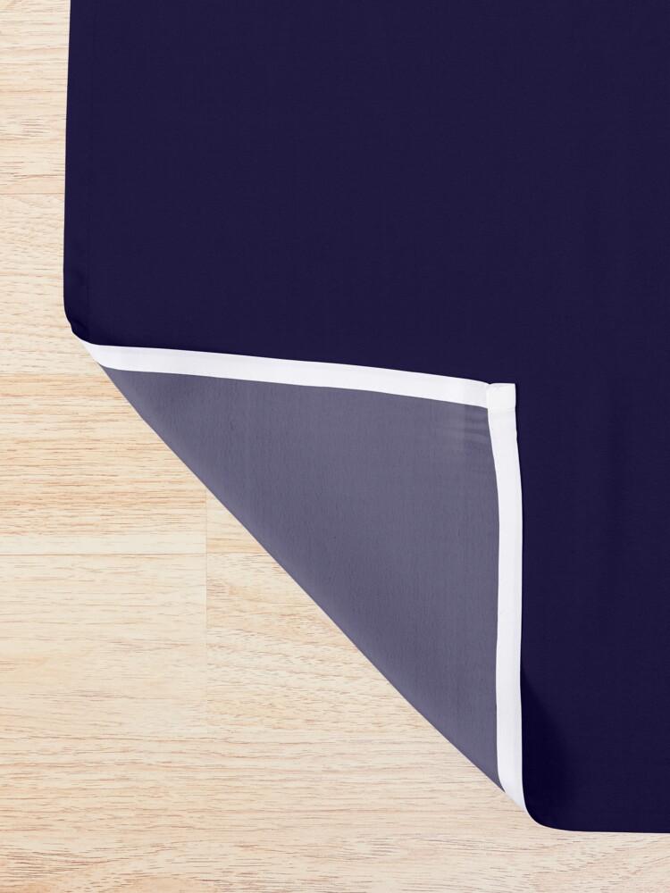 Alternate view of Modern navy blue white faux gold glitter brushstrokes Shower Curtain