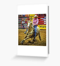 Barrel Racing - Horse and Rider - Fort Worth - Texas Greeting Card