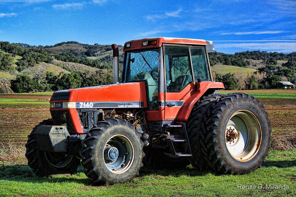 Red Tractor by Renee D. Miranda