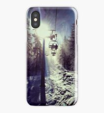 Chairlift to heaven iPhone Case