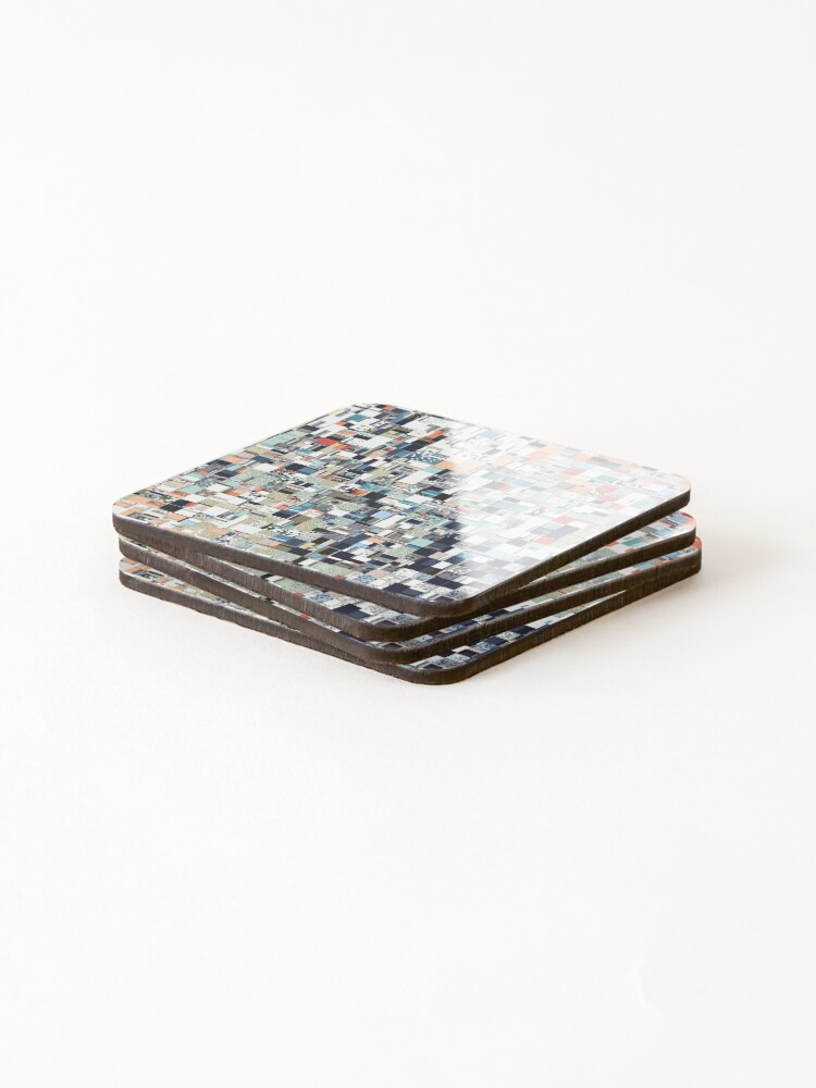 Alternate view of Colorful Chaotic Pattern Coasters (Set of 4)