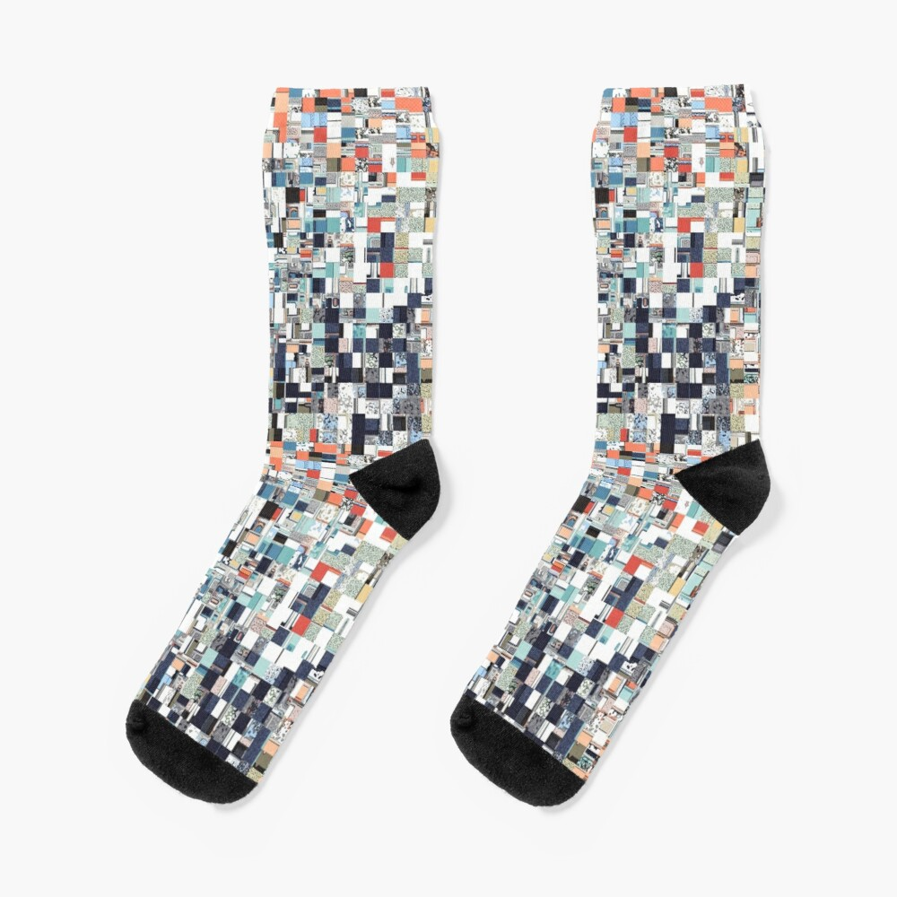 Colorful Chaotic Pattern Socks