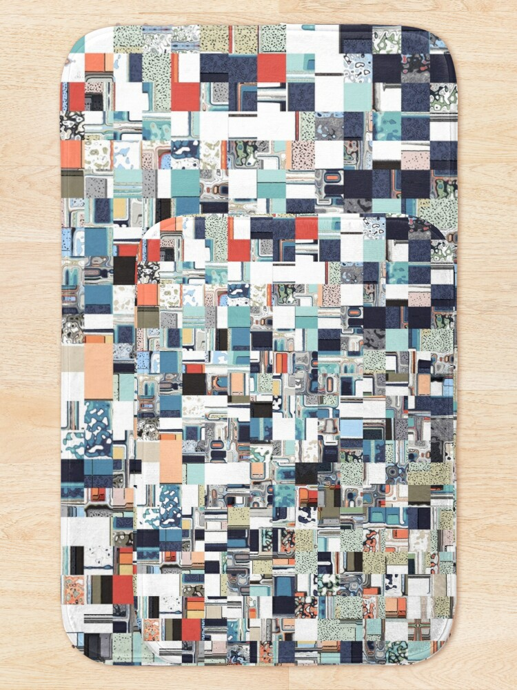 Alternate view of Colorful Chaotic Pattern Bath Mat