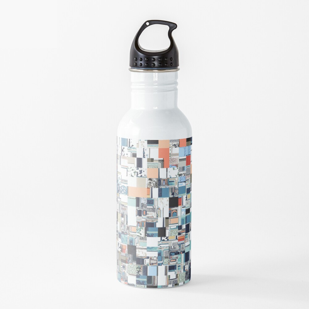 Colorful Chaotic Pattern Water Bottle