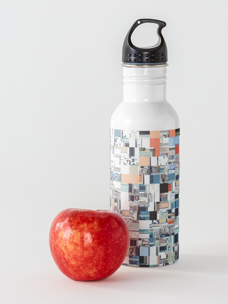 Alternate view of Colorful Chaotic Pattern Water Bottle