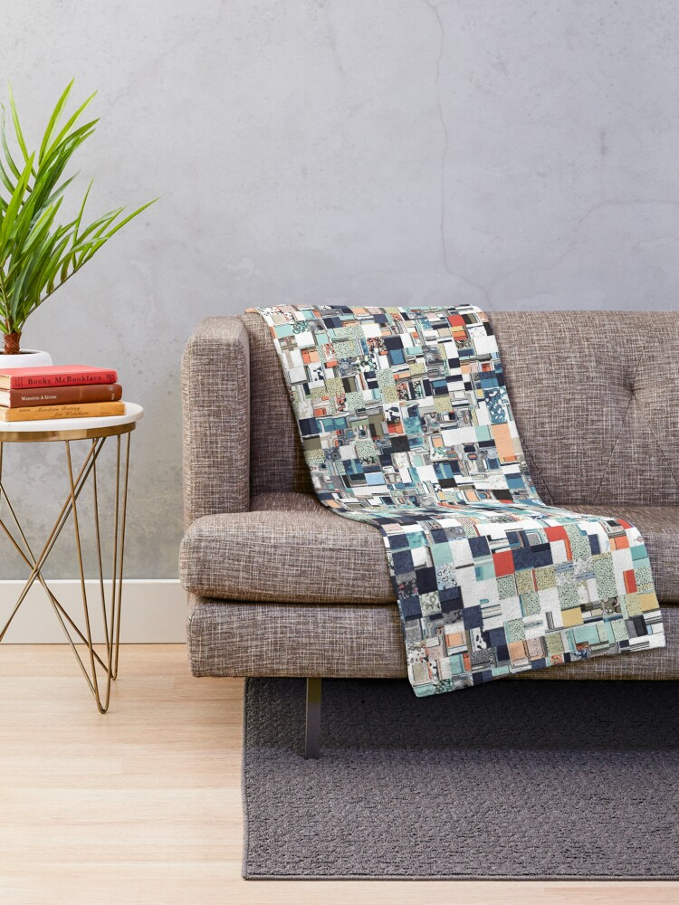 Alternate view of Colorful Chaotic Pattern Throw Blanket