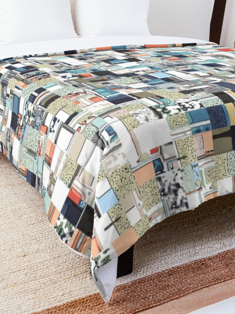 Alternate view of Colorful Chaotic Pattern Comforter