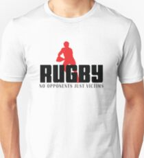 "Rugby ""No Opponents Just Victims"" Unisex T-Shirt"