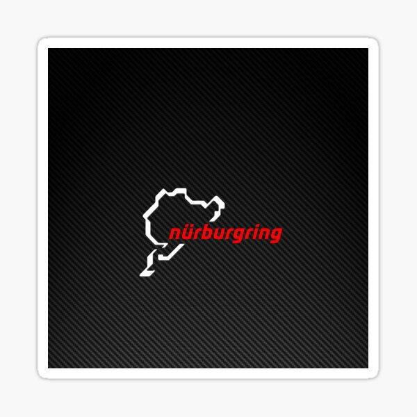 Nürburgring Carbon Fiber blanco / rojo Pegatina