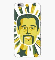 Mustachioed Aaron Rodgers iPhone Case