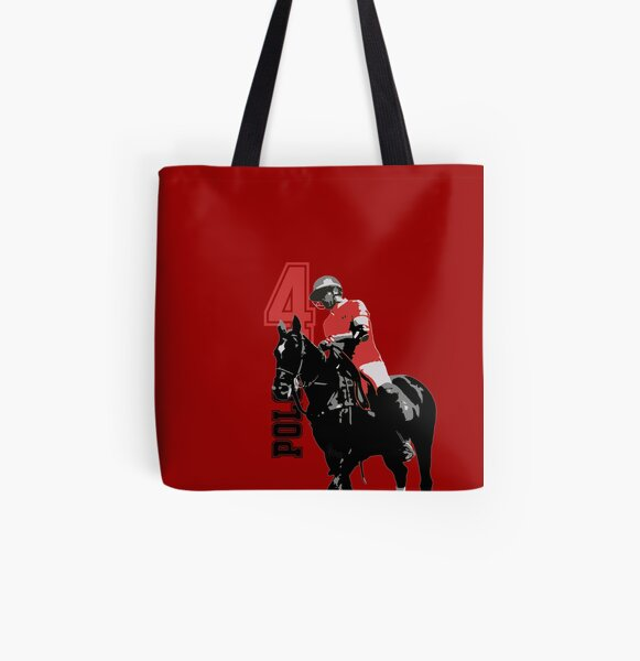 polo player red 4 All Over Print Tote Bag
