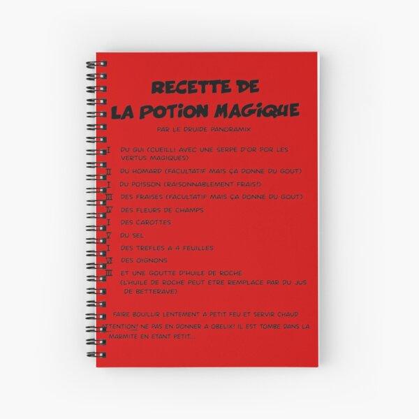 recette de panoramix la potion magique Spiral Notebook