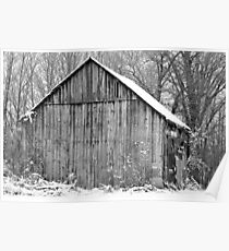 old barn in the snow Poster