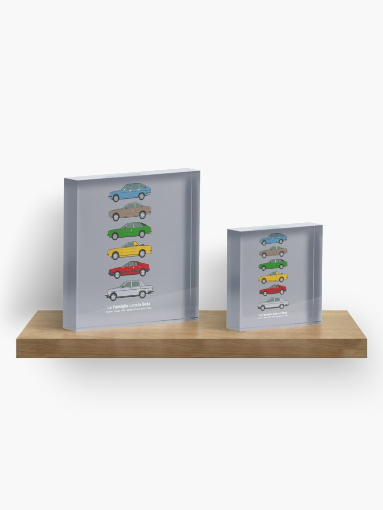 Alternate view of Lancia Beta Classic Car Collection Acrylic Block