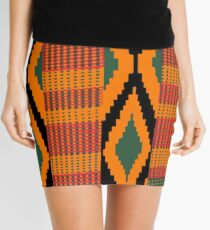 Kente print drawing Mini Skirt