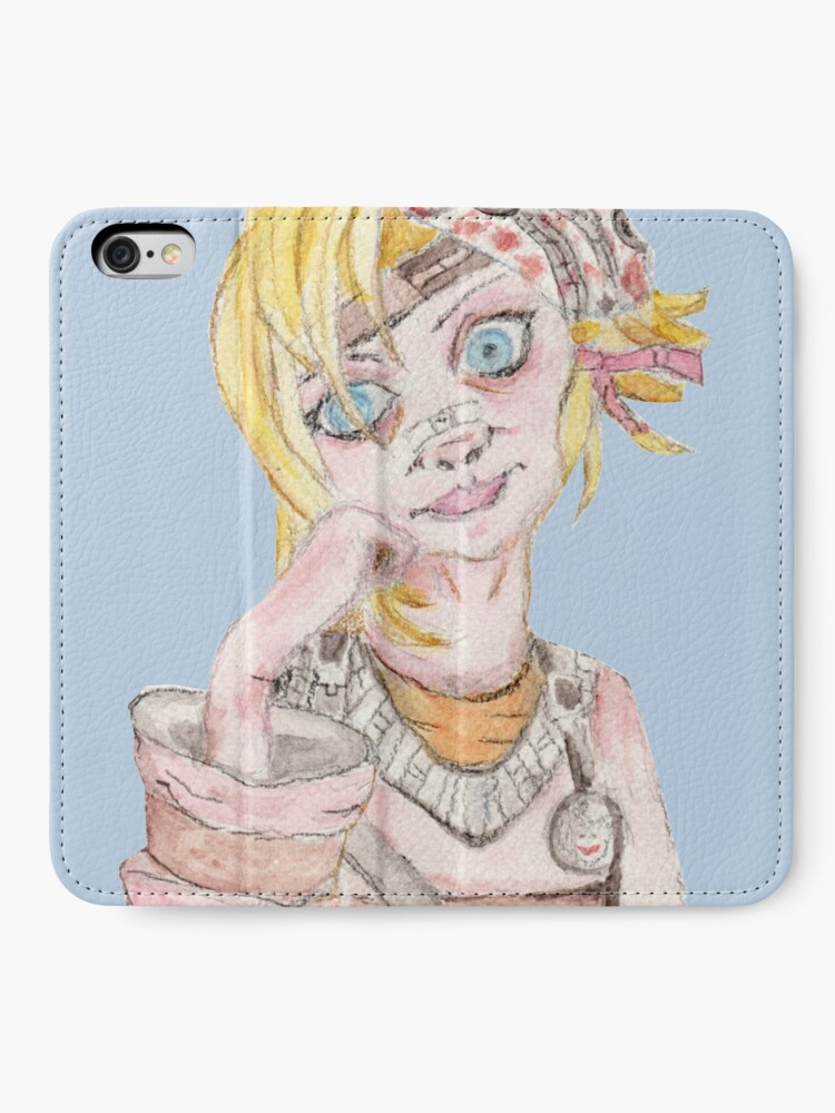 Alternate view of Tiny Tina Borderlands Fan Art iPhone Wallet