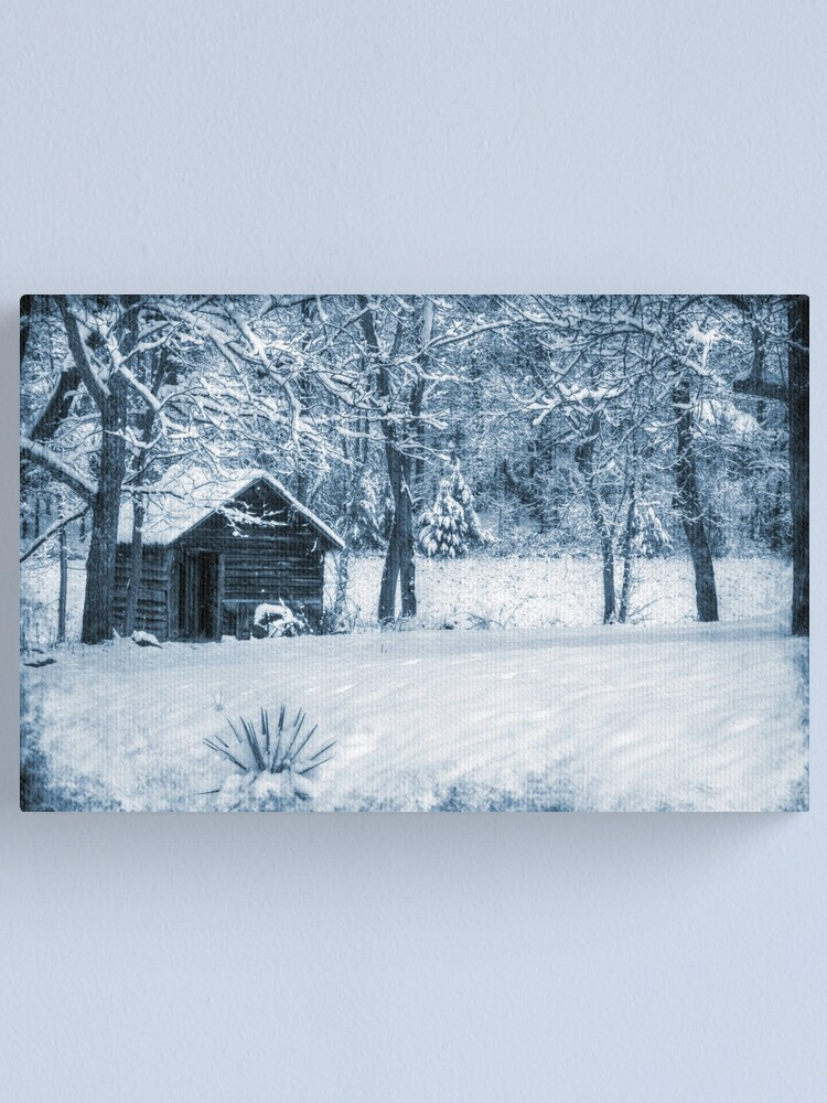 Alternate view of Blue Christmas Canvas Print