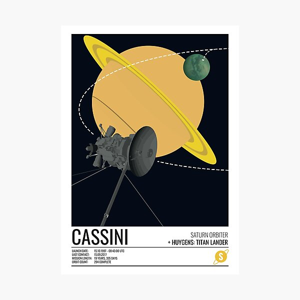 Cassini Huygens Probe Photographic Print