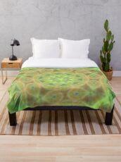 Seagreen Mandala Throw Blanket