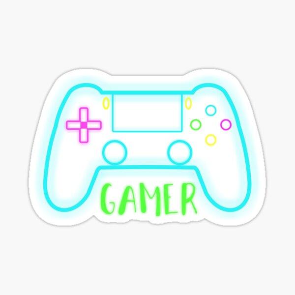 Neon gamer controller neon colors Sticker