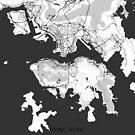 Hong Kong Karte Grau von HubertRoguski